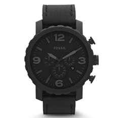 Harga Fossil Jam Tangan Pria Fossil Jr1354 Nate Chronograph Black Leather Watch Fossil Online