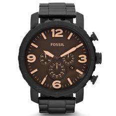 Beli Fossil Jam Tangan Pria Fossil Jr1356 Nate Chronograph Black Stainless Steel Watch Murah Dki Jakarta