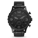 Review Tentang Fossil Jam Tangan Pria Fossil Jr1401 Nate Chronograph Black Stainless Steel Watch