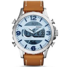 Promo Fossil Jam Tangan Pria Fossil Jr1492 Nate Analog Digital Tan Leather Watch Di Indonesia