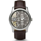 Spesifikasi Fossil Jam Tangan Pria Fossil Me1098 Multi Function Twist Taupe Cut Away Dial Brown Leather Men S Watch Yang Bagus