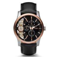 Promo Fossil Jam Tangan Pria Fossil Me1099 Mechanical Twist Black Leather Watch Indonesia