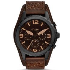 Jual Fossil Jam Tangan Pria Jr1511 Nate Chronograph Dark Brown Leather Watch Branded Original