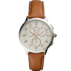 Beli Fossil Jam Tangan Wanita Fossil Ch3014 Abilene Chronograph Dark Brown Leather Watch Dengan Kartu Kredit