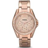 Review Toko Fossil Jam Tangan Wanita Fossil Es2811 Riley Multifunction Rose Tone Stainless Steel Watch