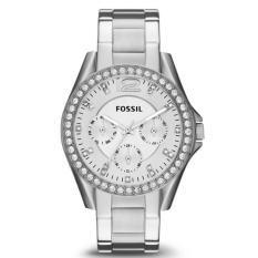 Promo Fossil Jam Tangan Wanita Fossil Es3202 Riley Multifunction Stainless Steel Watch Fossil