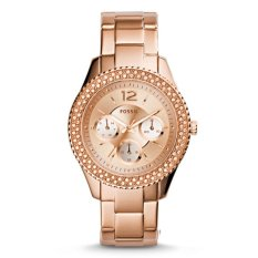 Beli Fossil Jam Tangan Wanita Fossil Es3590 Stella Multifunction Rose Tone Stainless Steel Watch Online Murah