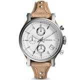 Fossil Jam Tangan Wanita Fossil Es3625 Original Boyfriend Chronograph Bone Leather Watch Indonesia Diskon