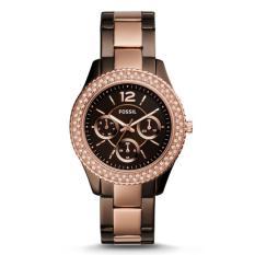Harga Fossil Jam Tangan Wanita Fossil Es4079 Stella Multifunction Brown Stainless Steel Watch Fossil Baru
