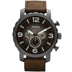 Fossil JR1424-C Jam Tangan Pria Strap Leather Hitam Coklat