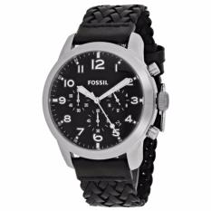 Harga Fossil Pilot 54 Chronograph Black Leather Watch Fs 5181 Fossil Asli