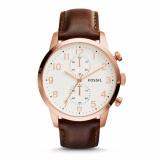 Toko Fossil Townsman Chronograph Brown Leather Watch Fs4987 Terlengkap