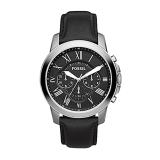 Jual Fossilfs4812 Grant Chronograph Leather Watch Black Indonesia