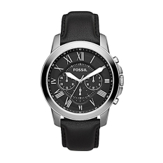 Harga Fossilfs4812 Grant Chronograph Leather Watch Black Fossil Online