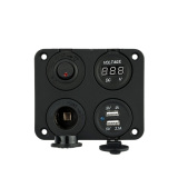 Spesifikasi Empat Panel Dasar Base Dual Usb Socket Voltmeter Meter Soket Daya Tombol On Off Switch Untuk Review Mobil Truk Motor Perahu For Atv Murah