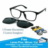 Jual Frame Kacamata Baca Minus Anti Radiasi Komputer Clip On 5 Lensa Warna Sunglass Polaroid Night View 2201 Oem Online