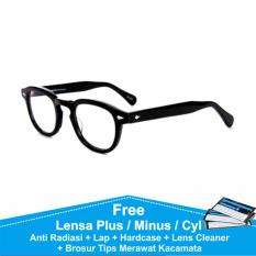 Frame Kacamata Bulat Minus Anti Radiasi Komputer Moscot Lemtosh