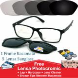 Harga Frame Kacamata Clip On Minus Photocromic Anti Radiasi Komputer Gratis 5 Lensa Warna Sunglass Polaroid Night View Online