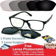 Spesifikasi Frame Kacamata Clip On Minus Photocromic Anti Radiasi Komputer Gratis 5 Lensa Warna Sunglass Polaroid Night View Yang Bagus