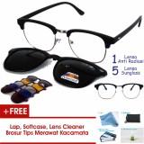 Jual Beli Frame Kacamata Clip On Clubmaster Kotak Gratis 5 Lensa Warna Sunglass Polaroid Night View Bisa Dipasang Lensa Minus Di Optik Terdekat Jawa Timur