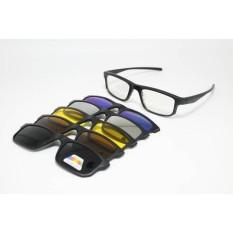 Frame Kacamata Minus Fashion Clip On 2256 Sunglasses Pria Wanita