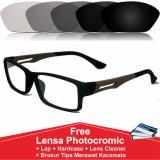 Spesifikasi Frame Kacamata Photocromic Photogrey Fotogrey Minus Sporty Anti Radiasi Komputer Berubah Warna S837 Coklat Paling Bagus