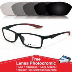 Model Frame Kacamata Photocromic Photogrey Fotogrey Minus Sporty Anti Radiasi Komputer Berubah Warna Tr533 Hitam Merah Terbaru