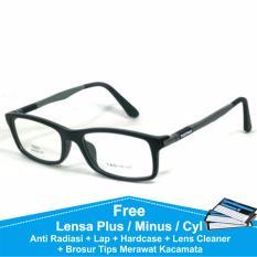 Frame Kacamata Plus / Minus Korea Kotak Anti Radiasi Komputer TG521 Hitam
