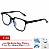 Harga Frame Kacamata Pria Wanita Korea Vintage 75045 Hitam Biru Bisa Dipasang Lensa Minus Di Optik Terdekat Oem