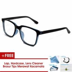 Frame Kacamata Pria Wanita Korea Vintage 75045 Hitam Biru Bisa Dipasang Lensa Minus Di Optik Terdekat