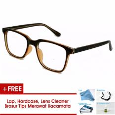Frame Kacamata Pria Wanita Korea Vintage 75045 Hitam Coklat Bisa Dipasang Lensa Minus Di Optik Terdekat