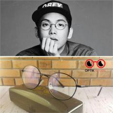 Frame + Lensa Minus - Kacamata Korea Model Bulat Vintage Klasik - Ih7urw