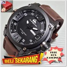 FREE BOX KANCING! Jam tangan Pria Quicksilver Tanggal hari Kulit Super