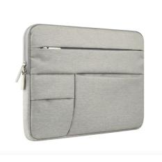 FREE Charging Cable + Berkualitas Tinggi 11 Inch Laptop Sleeve Case untuk Apple MacBook Air Komputer Carrying Bags (Grey) -Intl