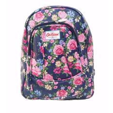 Harga Freeshop Ransel Tas Flower Kanvas Pencetakan Tas Sekolah Berlibur Bahu Bag Navy S303 Freeshop Terbaik