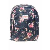 Harga Freeshop Ransel Tas Small Flower Kanvas Pencetakan Tas Sekolah Berlibur Bahu Bag Navy S304 Yang Murah Dan Bagus