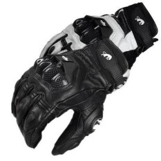 French Racing Brand Jaguar Furygan AFS 6 Motorcycle Gloves Leather Carbon Fiber(Color:White)(Size:L)
