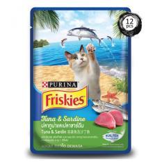 Jual Friskies *d*lt Wet Tuna Sardine Pouch 80 G X 12Pcs Antik