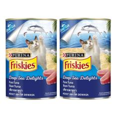 Friskies Can Wet Pure Tuna Deep Sea Delights Makanan Kucing 2 pcs [400 g x 2