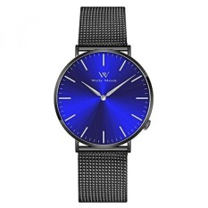 dari AMERIKA SERIKAT Welly Merck Swiss Gerakan Sapphire Crystal 42mm Blue Sunray Dial Pria Mewah Watch