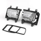 Beli Front Bumper Clear Fog Lights Plastic Lens Kit Untuk 85 93 Untuk Bmw E30 3 Series Sedan Intl Murah