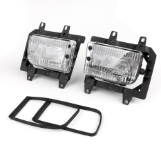 Ulasan Front Bumper Clear Fog Lights Plastic Lens Kit Untuk 85 93 Untuk Bmw E30 3 Series Sedan Intl