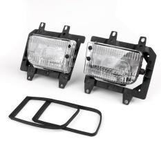 Jual Front Bumper Clear Fog Lights Plastic Lens Kit Untuk 85 93 Untuk Bmw E30 3 Series Sedan Intl Branded Murah