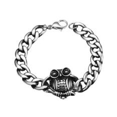 FS Men Boys Retro Cool Owl Modelling Bracelets Durable 316L Titanium Steel Punk Hand Chain