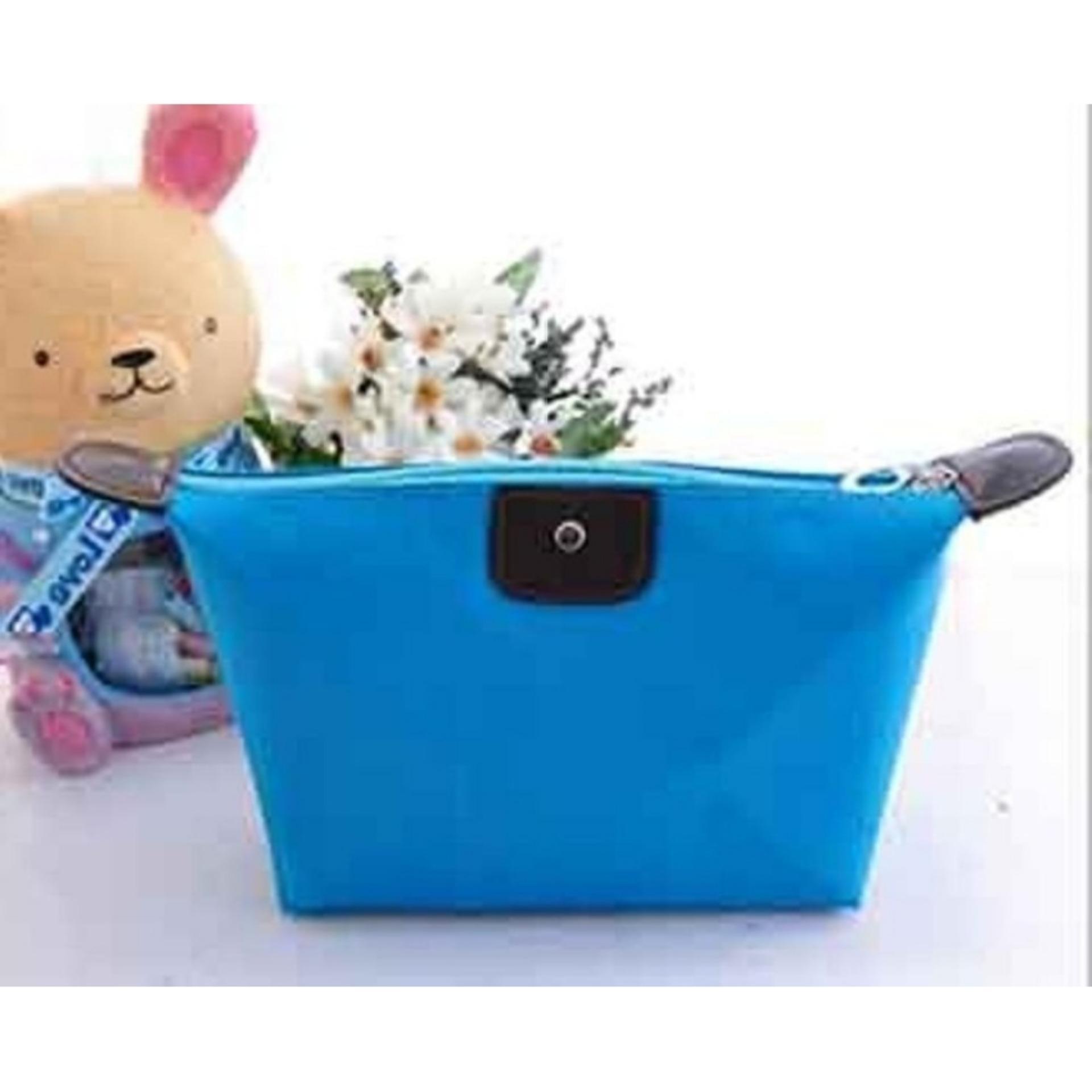 Penjualan Fthree - Tas Kosmetik Mini - Cosmetic Bag Pouch Purse Tempat Dompet Kosmetic – BIRU MUDA terbaik murah - Hanya Rp5.532