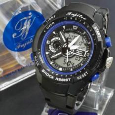 Fujitec Jam Tangan Murah Anti Air Original tipe FJ 2 - Pemakaian Pria - Black Blue