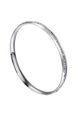 Spesifikasi Full Diamond Single Row Titanium Steel Gelang Silver Intl Yg Baik