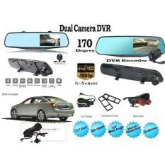 Full HD 1080 P 4.3 Inch Dual Lensa Mobil DVR Spion Dash Cam Kamera Video Camera With Malam Versi