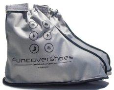 Harga Funcover New Jas Hujan Sepatu Silver Termurah