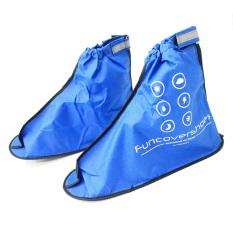 Funcover Jas Hujan untuk Sepatu 2nd Generation - Biru - Aksesoris Motor - Variasi Motor